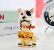 filhote de cachorro com sinais para venda dos desenhos animados para resina decoração do quarto animal brinquedos