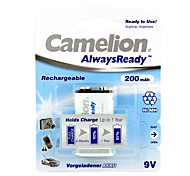 Camelion AlwaysReady 200mAh Low Self-discharge Ni-MH 9V Rechargeable Battery (1pc)