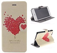 Heart-shaped Balloon Pattern PU Leather Cover with Stand for iPhone 6