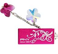 pny adorável adido-flor usb 8gb de cristal swarovski drive flash