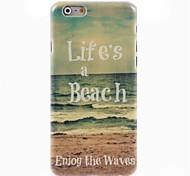 la vita è un caso duro di disegno spiaggia per iPhone 6 Plus