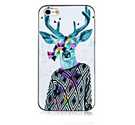 David's Deer Pattern Black Frame Back Case for iPhone 4/4S