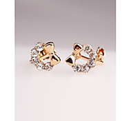 Fashion Korea Butterfly Alloy Imitation Diamond Clip Earrings for Women in Jewelry