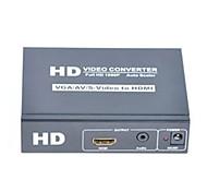 VGA+AV+S-video+3.5mm Stereo Female to HDMI Female Video Converters Support 1080P