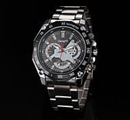 Men's Watch Quartz Silver Alloy Band Dress Watch Wrist Watch Cool Watch Unique Watch Fashion Watch