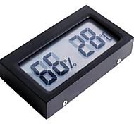La humedad del higrómetro del termómetro de temperatura del medidor