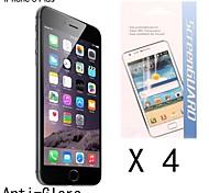 Protector de pantalla anti-huella digital de alta calidad para el iphone 6s / 6 más (4 piezas)