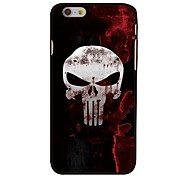 Skull Style Plastic Hard Back Cover for iPhone 6