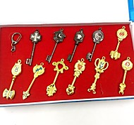 Fairy Tail Lucy  Constellation Keys Cosplay Accessories Set (11 Pieces)