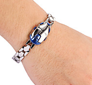 Fashion Blue Men's Silver Alloy Tennis Bracelet(1 Pc)