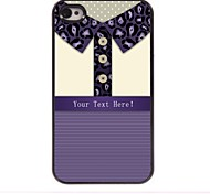 Personalized Gift leopard Print Shirt Design Metal Case for iPhone 4/4S