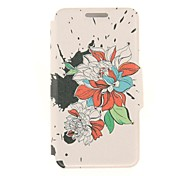 Kinston Ink Art Flower Diamond Paste Pattern PU Leather Full Body Case with Stand for Nokia Lumia 930