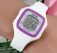Women's Fashionable Square-Shaped Dial Purple Rim LED Plastic Watches (1Pc)(Assorted Colors) Cool Watches Unique Watches