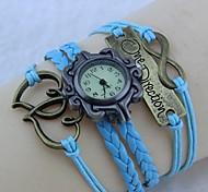 Vintage Heart - Shaped 8 Watch 22cm  Flannelette Wrap Bracelet (White,Black and More)(1 Pc)