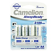 camelion AlwaysReady 2100mAh faible auto-décharge la batterie Ni-MH AA rechargeables (4pcs)