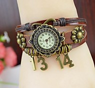 Women's Fashion Creative 1314 Love Leather Bracelet Watch(Assorted colors)