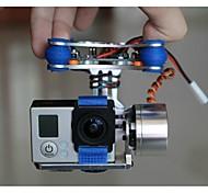 FPV gopro hero 3 fotocamera cardanico montaggio PTZ per DJI phantom x525 F450 F550 con motore& Controller cardanico