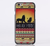 The Lion Pattern Plastic Hard Cover for iPhone 6
