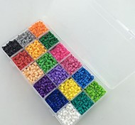 Approx 5400PCS 18 Mixed Color 5MM Fuse Beads Set Hama Beads DIY Jigsaw EVA Material Safty for Kids(Set A,18*300PCS)