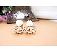 Love Is You Fashionable OL Elegant Pearl Earrings - the Roses