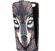 Cool Tribal Style Fox Pattern Magnetic Vertical Flip Leather Case for iPhone 6