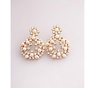Fashion Korea Big Pearl Imitation Diamond Stud Earrings for Women in Jewelry