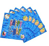 Coway 30*30*1 20 pcs/Package Blue Birthday Party Party Supplies Paper Napkin