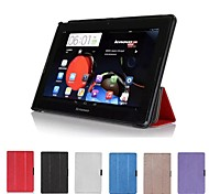 """Dengpin® PU Leather Silk Texture Folio Stand Tri-fold Protective Case Cover for Lenovo IdeaTab A10-70 A7600 10.1"""" Tablet"""