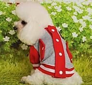 Cat / Dog Coat Red / Black / Blue / Pink / Yellow Winter Sport