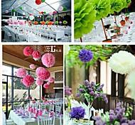 10 Stück 8-Zoll-Tissue-Papier Handwerk Pom Poms Blume Party-Deko (Farbe sortiert)