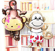 2PCS Lovely Monkey Aluminium Membrane Baby Shower Birthday Party Balloon