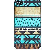 folk stijl met zwarte harten patroon pc Hard Cover Case voor iPhone 4 / 4s
