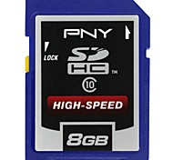 PNY 8GB Class 10 High-speed Professional SDHC Memory Card