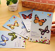 Simulation Butterfly Self Stick Note(Random Color)