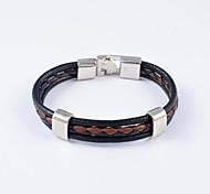 Европейский стиль мужские кожаные браслеты