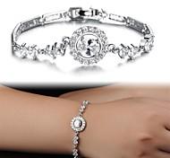 Fashion Ladies Set Auger Platinum Plated Bracelet