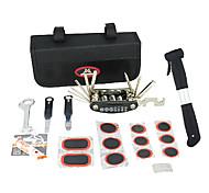 MYSENLAN Multi-Functional Portable Bike Repair Tool Kit Including Pump And Tyre Lever
