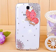 Diamond Butterfly Back Cover Case for SAMSUNG GALAXY Note 2 N7100