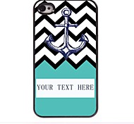Personalized Gift Anchor in the  Ripple Design Metal Case for iPhone 4/4S