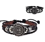 Fashionable Unisex ChromeHearts Pattern Alloy Resultant Leather Bracelet(1Pc)