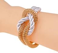 Lureme®Fashion Hollow Out Alloy Weaving Bracelets
