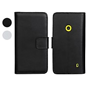 For Nokia Case Wallet / Card Holder / with Stand Case Full Body Case Solid Color Hard PU Leather Nokia Nokia Lumia 930 / Nokia Lumia 520