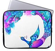 """elonbo 11.6 """"funda protectora hermosa neopreno comprimido pavo real de 11 '' MacBook Air dell acer hp"""