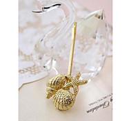 European Style Retro Metal Shell Beach Wedding Bridal Jewelry Hairpin