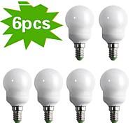6-Pack H+LUX™ CFL G45 E14 9W 400lm CRI>80 2700K Warm White Globe Bulb (AC220-240V) = 40W Incandescent