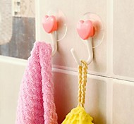 2 PCS Adsorption Type Heart-shaped Hook(Random Color)