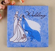 Blue Bride And Groom Napkins(Set of 20)