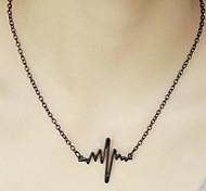 Frauen schön einfach EKG Halskette