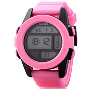 Women Rectangle Dial PU Strap LED Multifunction Sports Wrist Watch 30m Waterproof (Assorted Colors) Cool Watches Unique Watches