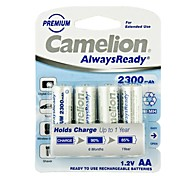 camelion AlwaysReady 2300mAh faible auto-décharge la batterie Ni-MH AA rechargeables (4pcs)